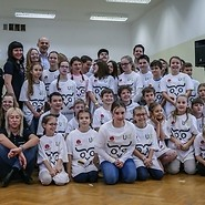 Children from Poland and Lithuania were setting a Guinness record